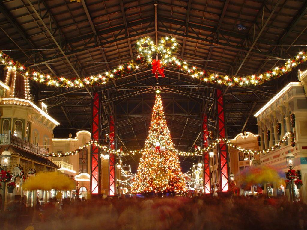 東京ディズニーランド クリスマス 夜景 Tokyo Disneyland