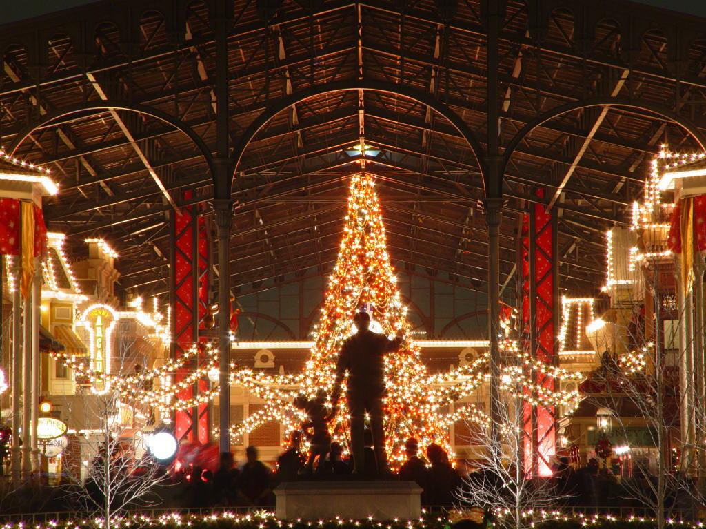 東京ディズニーランド・クリスマス 夜景 (tokyo disneyland)