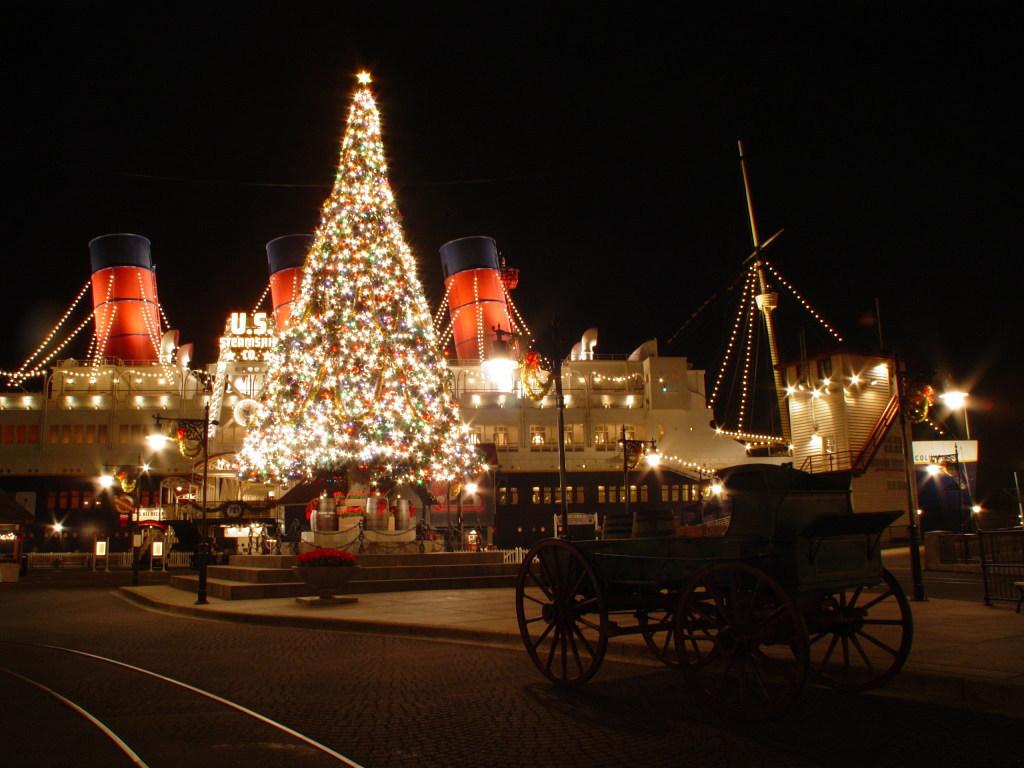 東京ディズニーシー・クリスマス 夜景