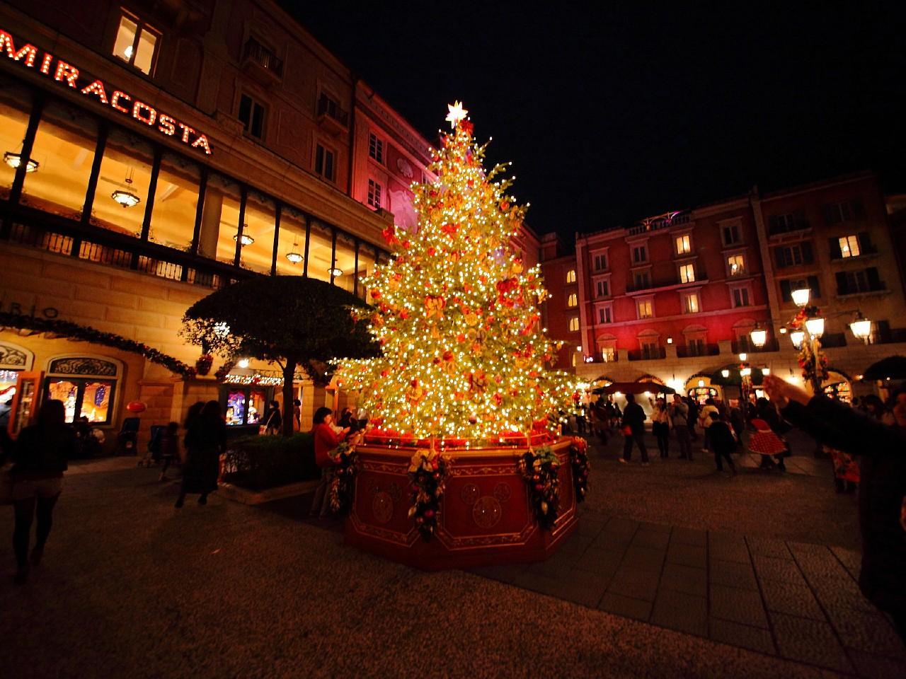 東京ディズニーシー・クリスマス ウィッシュ2011 夜景写真